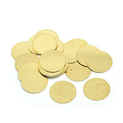 100 Solid Brass Stamping Round Blanks NO HOLE Disk Tag Pendants 16mm 5/8""