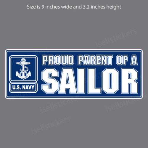 NV-4052 Proud Parent of A Navy Sailor Military Vinyl Bumper Sticker Window Decal