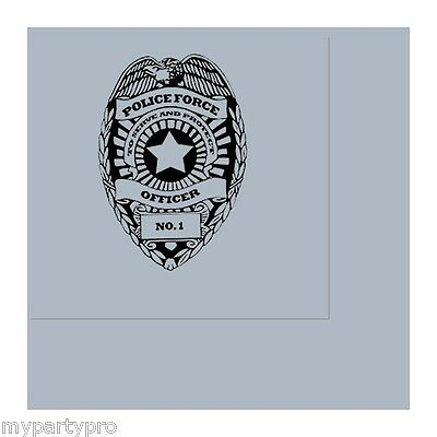 Police Badge Lunch Napkins Birthday Party Supplies law enforcement - Law Enforcement Party Supplies