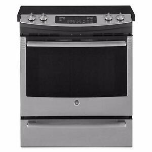 Cuisinière slide-in 30'' Autonettoyant Stainless, GE