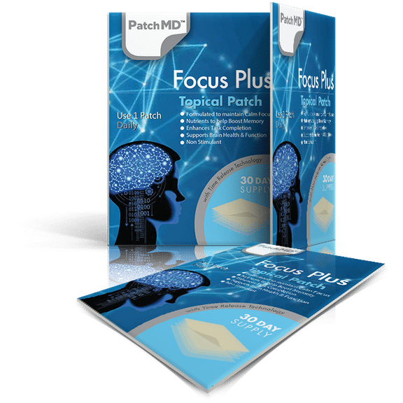 PatchMD Focus Plus - Topical Patch (30 Day Supply) - EXP 2022