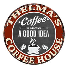 CWCB-0203 TARA/'S COFFEE BREAK Chic Tin Sign Decor Gift Ideas