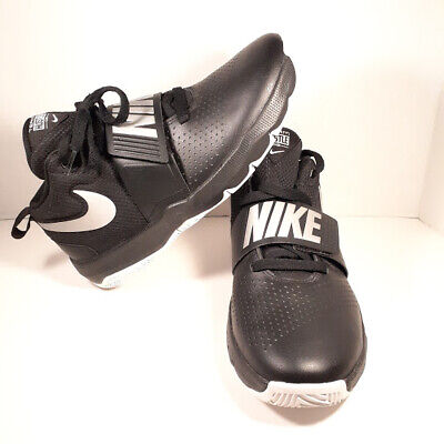 Nike Team Hustle D8 GS Boys Basketball Shoes Size 7Y Black Gray Pre-Owned MINT!