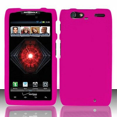 Hot Pink Motorola DROID RAZR MAXX XT913 Faceplate Snap-on Phone Hard Cover Case -