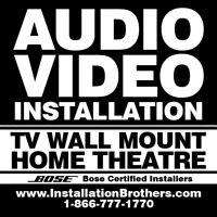 Audio/Video Installation - Home Theatre - TV Wall Mount