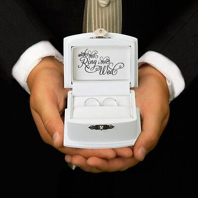 Wedding Ring Bearer Box Ring Pillow Alternative Boy Ceremony Aisle Unique Gift - Ring Bearer Gift