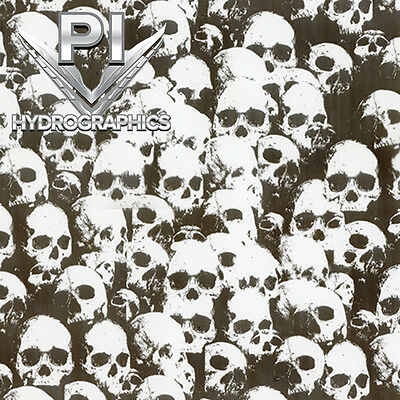 Hydrographic Film Hydro Dipping Water Transfer Print Shadow Clear Skulls Ll296-1