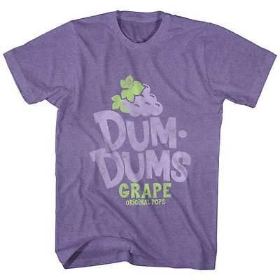 Dum Dums Candy Suckers Grape Original Pops Adult T Shirt