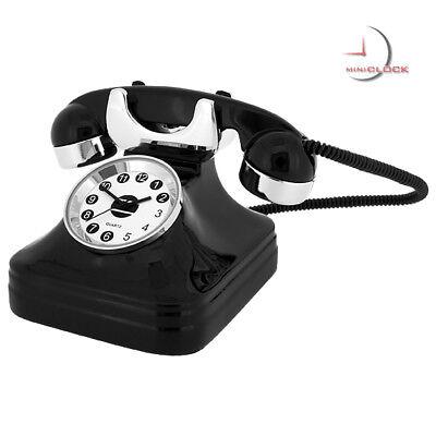 RETRO TELEPHONE VINTAGE STYLE MINIATURE COLLECTIBLE MINI CLOCK GIFT