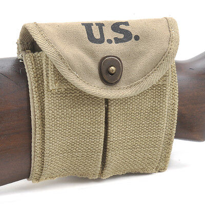 Usgi Ww2  30 M1 Carbine  Buttstock Type Magazine Pouch Khaki Dated 1942