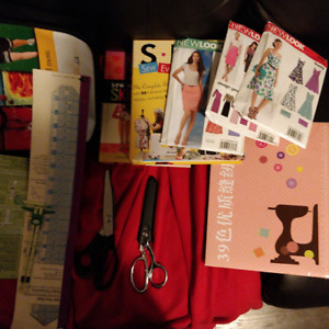 Misc sewing tools + books - never used