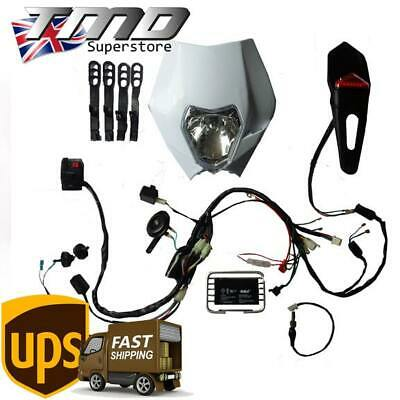 Enduro Motorcycle Complete Full Light Kit (E Marked) Loom - Kick Start Only