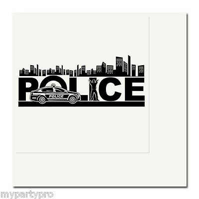 Police City Lunch Napkins Birthday Party Supplies law enforcement - Law Enforcement Party Supplies