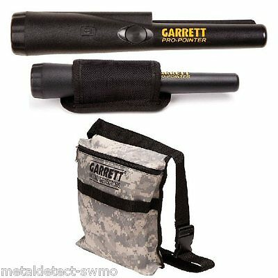 GARRETT PRO POINTER Metal Detector Pinpointer w/ Holster and Camo Pouch w/ Belt