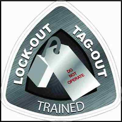 Lockout Tagout Trained Hard Hat Sticker