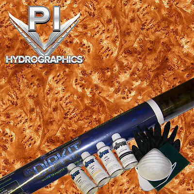 Hydrographic Kit Hydro Dipping Water Transfer Hydro Dip Burl Wood Bw-65-30