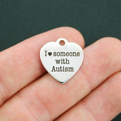 Autism Stainless Steel Charm - Quantity Options - BFS441 (Autism Charms)