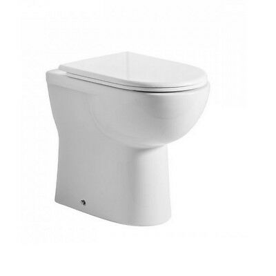 Tavistock Micra Comfort Hight Rise Disabled Back to Wall Toilet Pan Soft seat