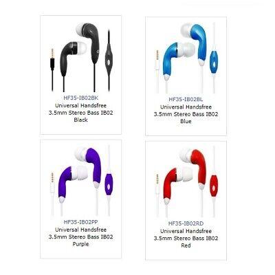 3.5 mm Audio Handsfree Earphones Headset Earbuds w/Mic. ForBLU Energy X LTE ()