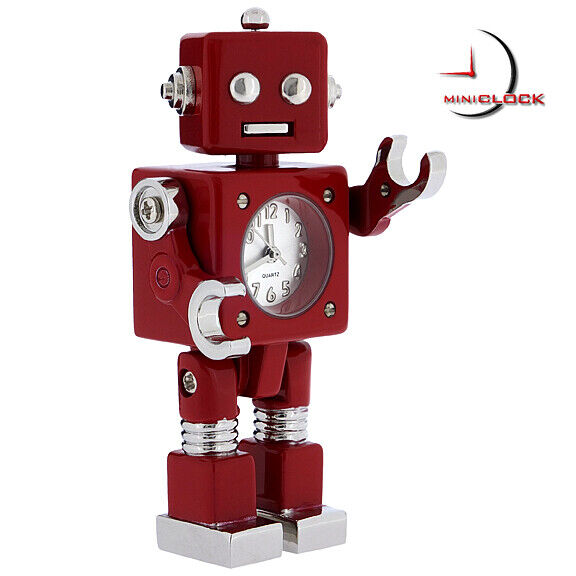 RETRO ROBOT SCI-FI MINI DESK CLOCK - Moveable!