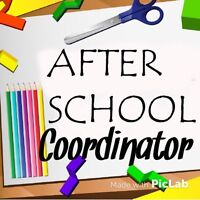 After School Coordinator ( up to 20 or more hours per week)