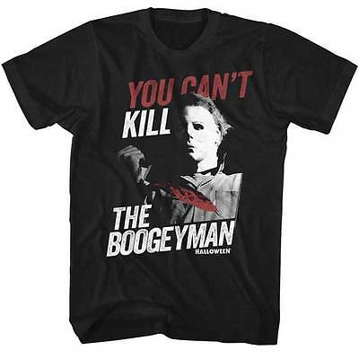 Halloween You Can't Kill The Boogeyman Adult T Shirt Great Scary - Halloween The Boogeyman