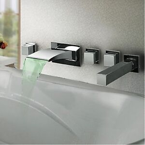 ebay kitchen sinks led color changing wall mounted bathroom waterfall tub 3515
