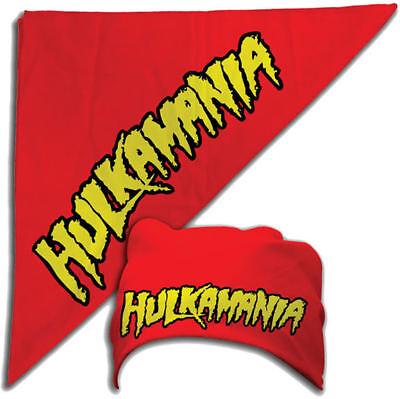 Red Hulk Hogan Hulkamania Bandana Adult Sized New