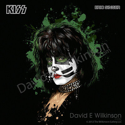 Eric Singer of KISS LP Album Size Art Giclee' by David E. Wilkinson