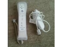 Genuine Wii remote controller + motion plus adapter + nunchuck