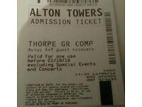 New Alton towers ticket