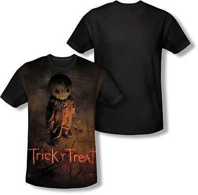 TRICK R TREAT POSTER SUBLIMATION HALLOWEEN COSTUME BLACK BACK T SHIRT S-3XL](Halloween Costume Poster)