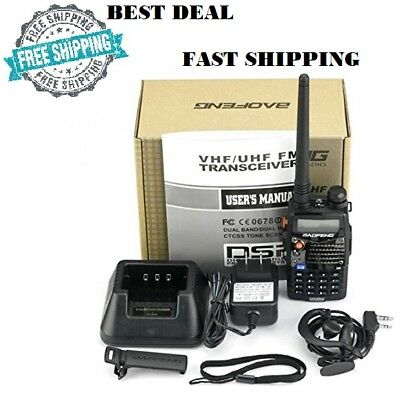 (Digital Handheld Radio Scanner Fire Police VHF FM EMS Ham 2 Way Transceiver Dual)