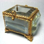 Victorian Glass Jewelry Box
