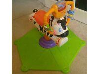 Fischer Price Bounce 'N Spin Zebra