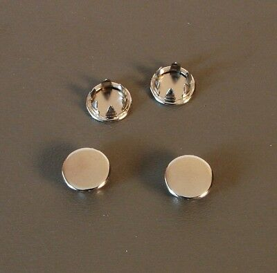 "Set of Four 3/8"" Metal Hole Plugs- Nickel Plated SP-375-NK"