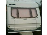 2002 luner 5 berth caravan light weight comes with a full awnings vgc