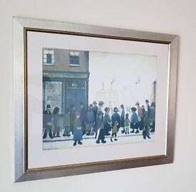L.S LOWRY Print on frame