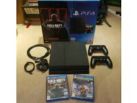 Sony PlayStation 4 Console - 500GB - COD Black Ops 3 Edition - 2 Controllers & Destiny