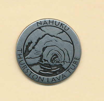 Hawaii * NPS Pewter Collector Token Volcano Thurston Lava Tube * New * Rare