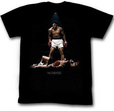 Authentic Muhammad Ali All Over Again The Greatest Liston Boxing T Shirt S  2Xl