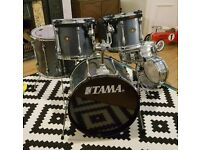 Tama rockstar drum kit. Cymbal stands included