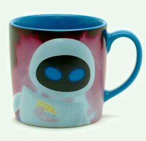 New disney store 3d eve slogan character mug cup sculpted wall e pixar ebay - Walle and eve mugs ...