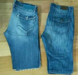 Men's jeans shorts size L & 33W