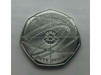 2017 UK Sir Isaac Newton 50p Coin