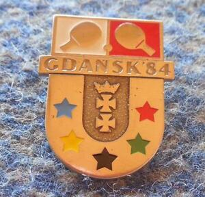 TABLE TENNIS UNIVERSIADE POLAND city GDANSK 1984 PIN BADGE - <span itemprop='availableAtOrFrom'>Wroclaw, Polska</span> - TABLE TENNIS UNIVERSIADE POLAND city GDANSK 1984 PIN BADGE - Wroclaw, Polska