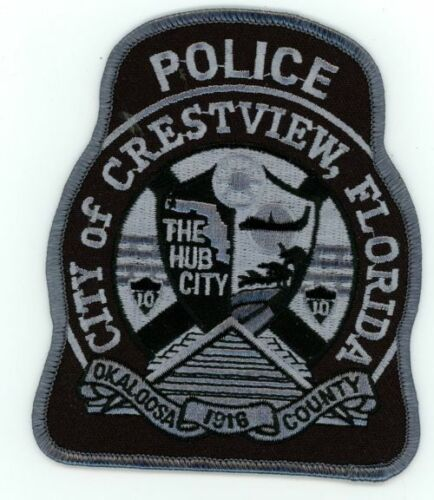 CRESTVIEW POLICE FLORIDA FL POLICE NICE PATCH SUBDUED SWAT SHERIFF