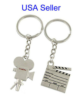 Clapboard Keychain and Film Camera Key Chain sold as a set - USA Seller (Clapboard Keychain)