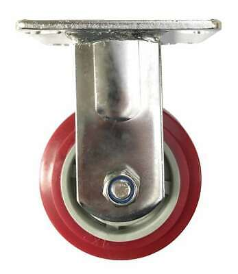 8 Inch Caster Wheel 661 Pounds Fixed Stainless Steel Fork And Polyurethane To