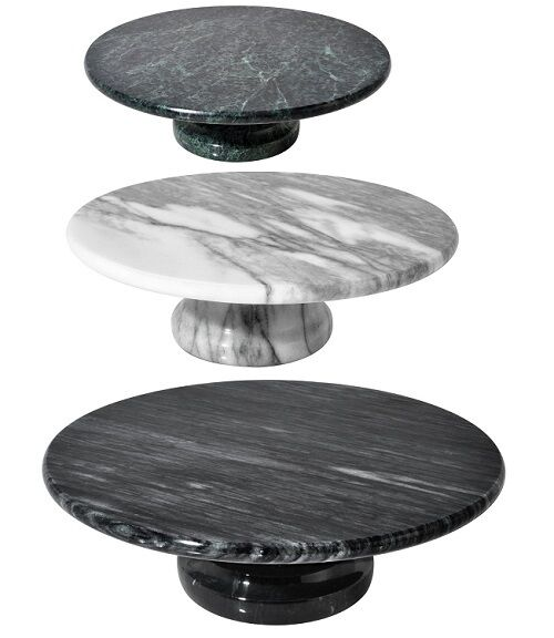 White Green Black Marble Cake Stand Round Wedding Parties Cupcake Pies Holder Ebay